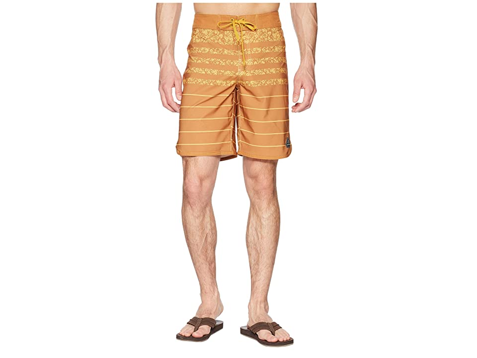 Prana High Seas Shorts (Cumin Field Stripe) Men