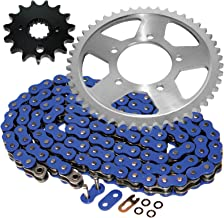 Caltric Blue O-Ring Drive Chain & Sprockets Kit Fits SUZUKI GSF600S GSF-600S Bandit 600 1996-1999