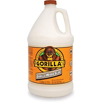 Gorilla Wood Glue, 1 gallon Bottle, Natural Wood Color, (Pack of 1)