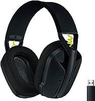 Logicool G 罗技 G 游戏耳机 G435 LIGHTSPEED & Bluetooth 无线 耳机/轻量 165克 / 内置麦克风 / 连续使用18小时/ Dolby Atmos对应/PC PS4 PS5 智能手机 G435BK 国内正品