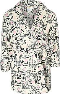 Sweet & Sassy Girls Coral Fleece Printed Robe