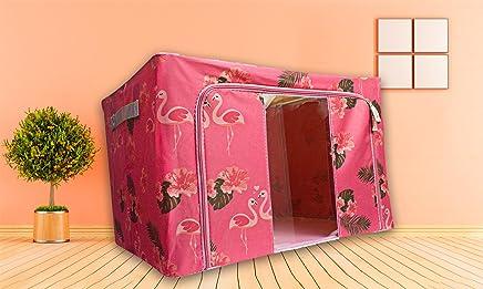 Rose Inwagui Panier de Rangementen Petit en Corde de Coton Bo/îte de Rangement avec Couvercle Bac de Stockage pour Accessoires B/éb/é Bureau Placard Chambre D/écoration