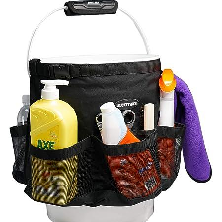 Bucket Idea Bucket Tool Organizer for Garden Tools Fit 3.5 to 5 Gallon Bucket (Black)