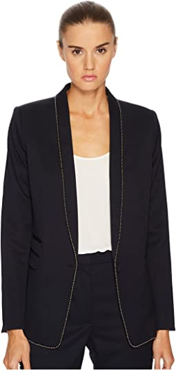 The Kooples - Permanent Basic Jacket with Gun Metal Beaded Braid Details