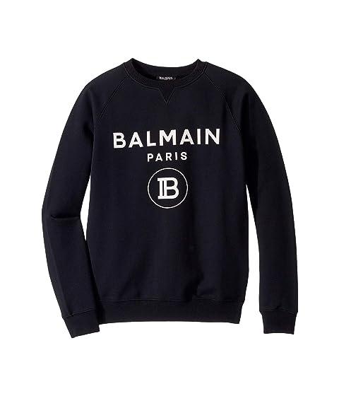 Balmain Kids Logo Pullover Sweatshirt (Big Kids)