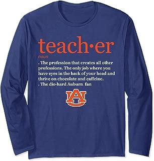 Auburn Tigers Teacher Definition Long Sleeve T-Shirt