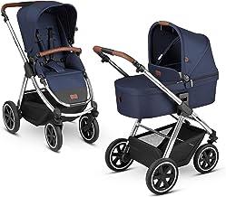 ABC Design 2in1 City-Kinderwagen Samba Diamond Edition – Kombikinderwagen für Neugeborene & Babys – Inkl. Buggy Sportsitz & Babywanne – Radfederung & höhenverstellbarer Schieber – Farbe: navy