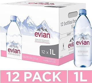 evian Bottled Water, 1 L
