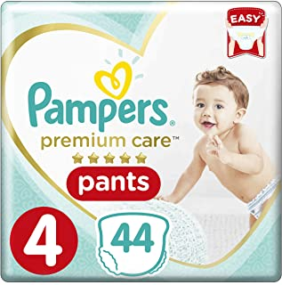 Pampers Premium Care Pants Diapers, Size 4, Maxi, 9-14 kg, 44 Count