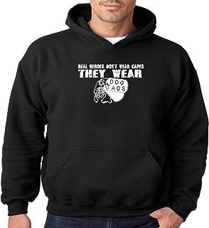 Military Hoodie Real Heroes Wear Dog Tags Mens Hooded Sweatshirt S-3XL