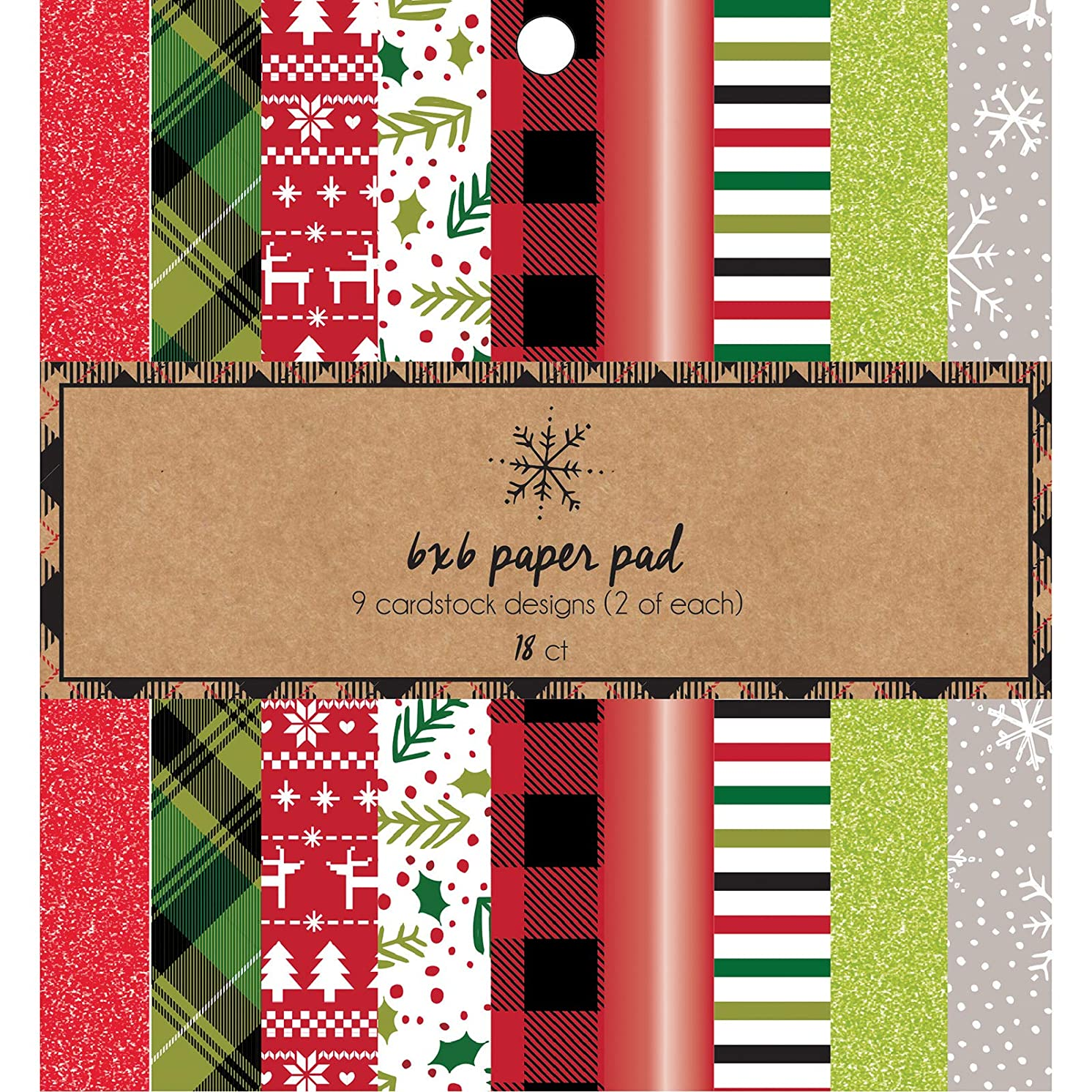 American Crafts 376676 Holiday Paper Pad Multicolor