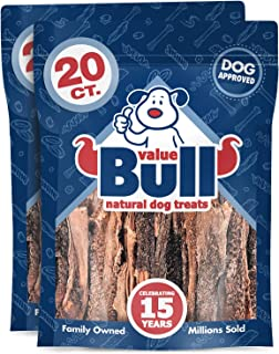 ValueBull Lamb Tripe Sticks, Premium 6 Inch, 40 Count - All Natural Dog Chews, Grass-Fed, Single Ingredient