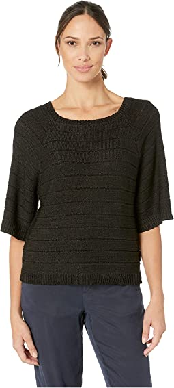 Boxy Pullover Shimmer Tape Sweater