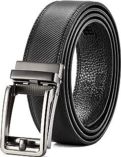 Click Ratchet Belt Dress with Sliding Buckle 1 3/8