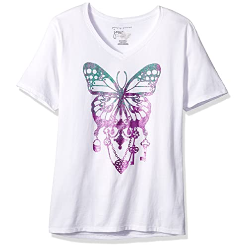 df8145c1c07 Just My Size Women s Size Plus Printed Short-Sleeve V-Neck T-Shirt