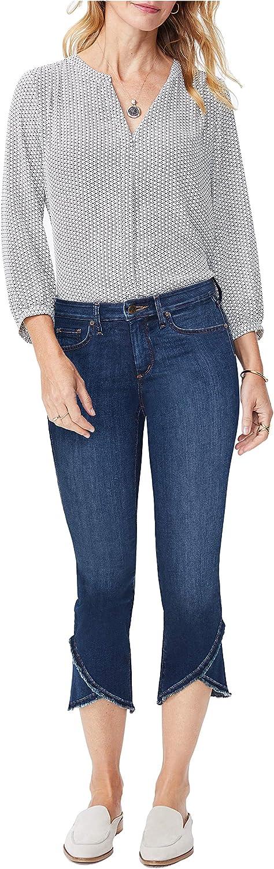 NYDJ Women's Misses Slim Capri Jeans with Frayed Hem