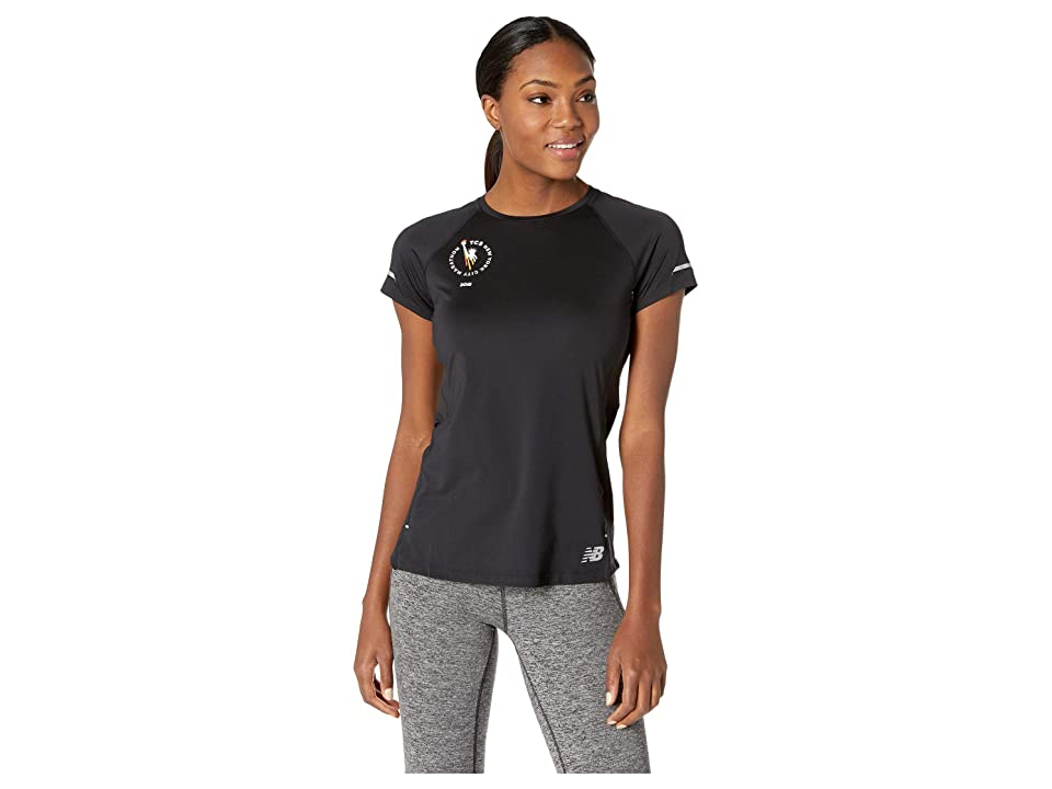 New Balance NB Ice 2.0 Short Sleeve Top (Black Multi) Women