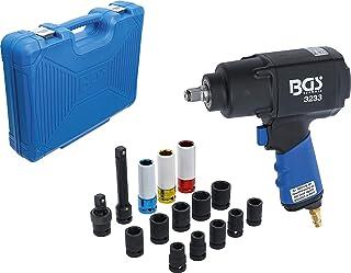 BGS 5259   Druckluft Schlagschrauber Satz   16 tlg.   12,5 mm (1/2')   1355 Nm   inkl. Kunststoff Koffer   Set