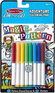 Melissa & Doug 30310 On The Go - Magic Pattern Colouring Pad - Adventure Activity Books & Sticker Pads