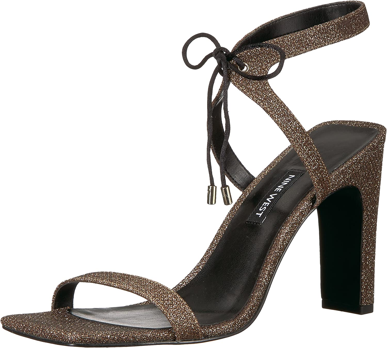Nine West Woherren Longitano Fabric Fabric Fabric Heeled Sandal, schwarz Natural Fabric, 6 Medium US  3fc77b