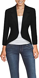 HyBrid & Company Womens Office High Low Blazer Jacket