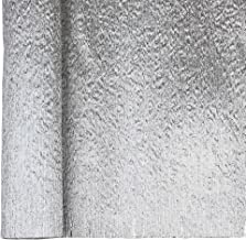 Just Artifacts Premium Metallic Crepe Paper Roll - 8ft Length/20in Width (Color: Silver)