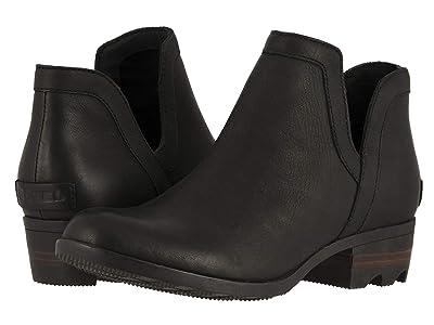 SOREL Lolla Cut Out (Black Full Grain Leather) Women