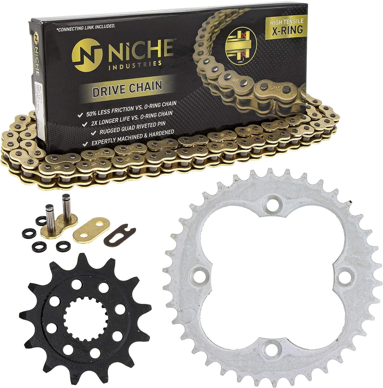 NICHE Drive Sprocket Chain Combo Fron TRX450ER 25% Popular popular OFF Honda TRX450R for