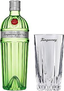 Tanqueray No Ten Set mit Bar Glas, Destillierter Gin, Alkohol, Flasche, 47.3%, 700 ml