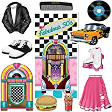 The Fabulous 50s Door Cover Party Accessory and Rock n Roll Poodle Party Cutouts Bundle | Featuring Jukebox, Poodle Skirt, Roller Skates and More