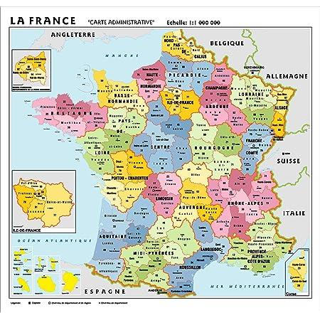 Cartina Italia Politica Aggiornata.Mappa Amministrativa Francese Mappa Mappa Di Francia Amazon It Cancelleria E Prodotti Per Ufficio