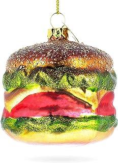 BestPysanky Hamburger Glass Christmas Ornament