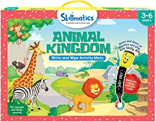 Skillmatics Educational Game: Animal Kingdom, 3 - 6 Years, Multi-Colour, SKILL09AKB