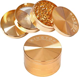 Kingtop Herb Spice Grinder Large 3.0 Inch Rose Gold