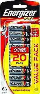 Energizer AA Battery Energizer MAX Alkaline AA Batteries, 20 Pack, (E301024100)