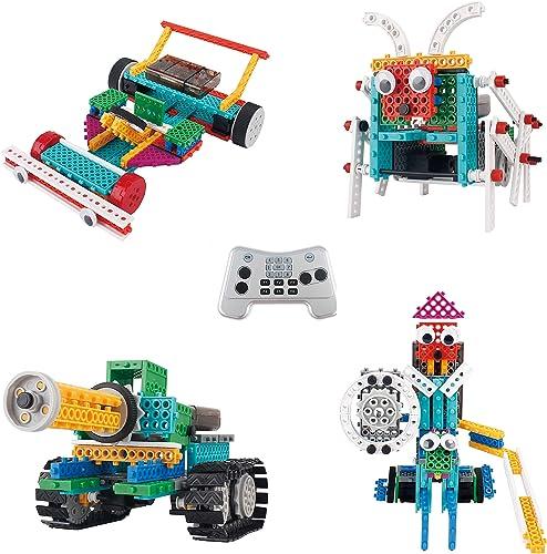 ThinkGizmos Le kit Robot pour Enfants - Le Kit de Construction de Jouet télécommandé Ingenious Machines (Tank, Insect...