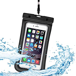 Htwon Universal Waterproof Case, IPX 8 Floating Waterproof Phone Pouch Underwater Dry Bag for iPhone Xs Max, XR, X, 8/8 Plus, 7/7 Plus, Samsung Galaxy S10 Plus/S10/S10e/S9/S9 Plus, S8/S8 Plus (Black)