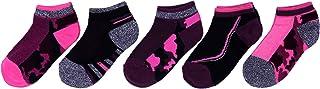 5 x calcetines bajos rosa y negro
