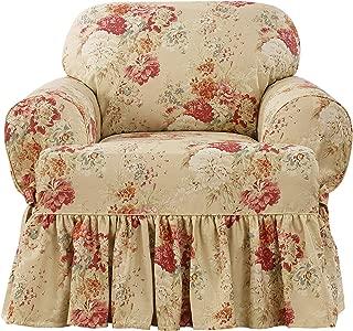Surefit Ballad Bouquet Waverly One Piece Chair Slipcover - Blush