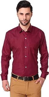 LONG ON Men's Cotton Dot Printed Slim fit Casual Shirt