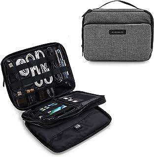 Organizador de cabos eletrônicos de viagem de 3 camadas da Bagsmart com bolsa para iPad Mini, discos rígidos, cabos, carre...