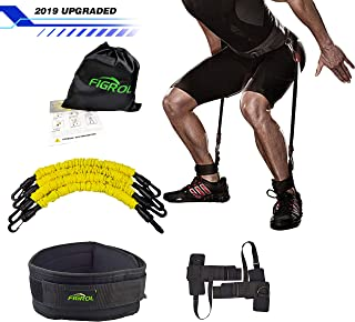 FIGROL Vertical Bounce Trainer Leg Resistance Bands Set-Leg Strength Muscle Workout - for Basketball Football Taekwondo Yoga Boxing Explosive Power Training
