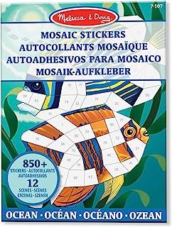 Melissa & Doug - Blocs d'autocollants mosaïque des animaux de l'océan (12 scènes colorées à compléter avec plus de 850 aut...
