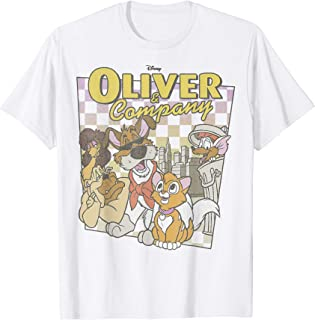 Oliver & Company Checkerboard Poster T-Shirt