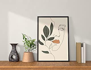 QUOTE - UNQUOTE ART Framed Abstract Poster Print - Women - Plant - Boho Painting for Living Room - Home Décor - Minimalist...