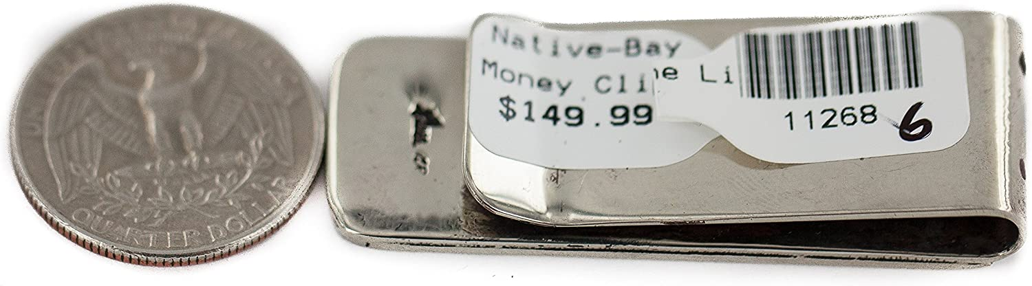 $150Tag Navajo Bear Paw Certified Authentic Nickel Native American Money Clip 11268-6 Made by Loma Siiva