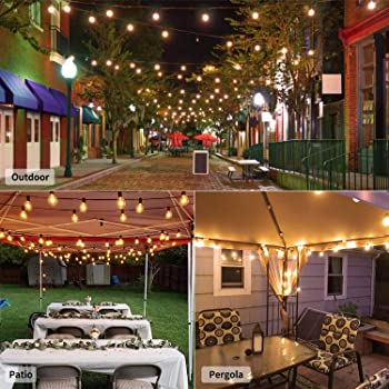 Brightown Outdoor String Light - 100Ft G40 Globe Patio Lights with 104 Edison Glass Bulbs(4 Spare), UL Listed Waterpr...