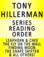 TONY HILLERMAN — SERIES READING ORDER (SERIES LIST) — IN ORDER: LEAPHORN & CHEE, THE SHAPE SHIFTER, SKELETON MAN, THE SINISTER PIG, THE WAILING WIND, HUNTING BADGER, THE FIRST EAGLE & MANY MORE!