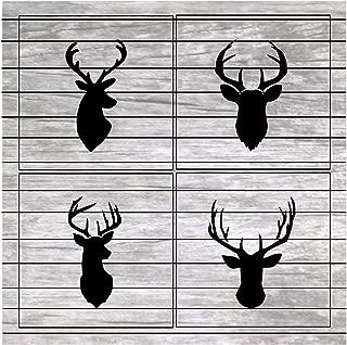 Best reindeer head stencil template Reviews
