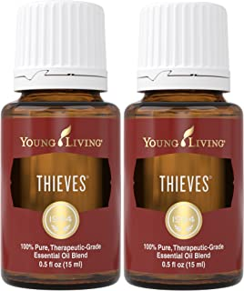 Thieves Essential Oil 15ml by Young Living Essential Oils (2 pack)
